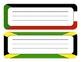 Olympic Theme Name Plates