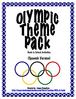 Olympic Theme Pack:  Back to School Activities (Spanish)