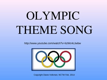 Olympic Theme Song