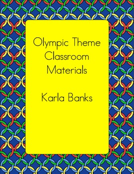 Olympic Themed Classroom Materials