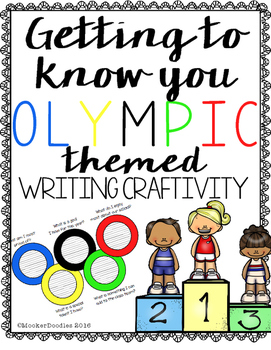 Olympic Themed Getting to know you Writing Craftivity
