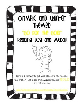 """Olympic Themed """"Go for the GOLD"""" Individual Reading Log and Award!"""