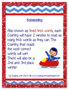 Olympic-Themed Literacy Centers/Small Group Activities