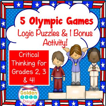 Winter Games  Logic Puzzles and 1 Bonus Activity! Critical Thinking!