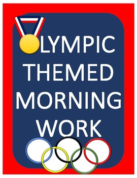 Olympic Themed Morning Work