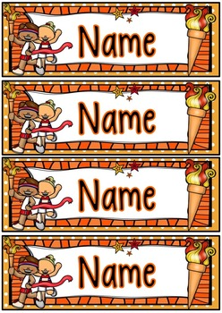 Olympic Themed Name Desk Tags