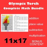 Olympic Torch Math Mystery Picture Complete Bundle - 11x17