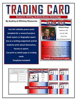 Olympic Trading Card- Writing