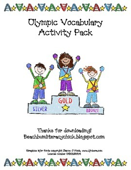 Olympic Vocabulary - Activity Pack