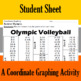 Olympic Volleyball - A Coordinate Graphing Activity