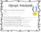 Summer Rio Olympic WebQuest Upper Elementary