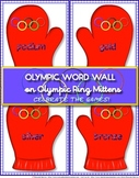 Olympic Winter Games 2014 Mitten Word Wall