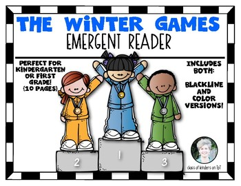 Olympic Winter Games Emergent Reader for Kindergarten and First Grade