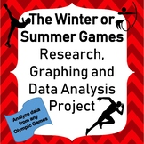 Olympic Winter Games Project for Upper Elementary Graphing and Analyzing Data