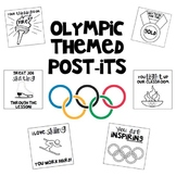 Olympic Winter Themed Post-Its