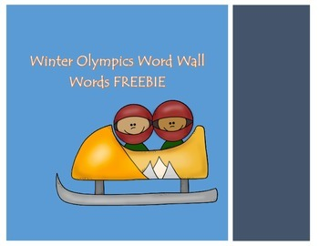 Olympic Word Wall Words FREEBIE
