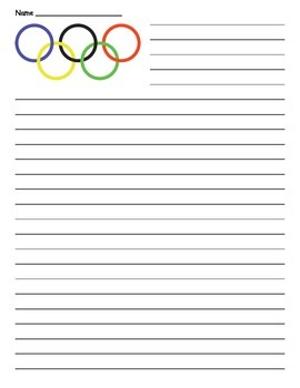 Olympic Writing - Olympic Lined Paper