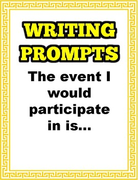Olympic Writing Prompts
