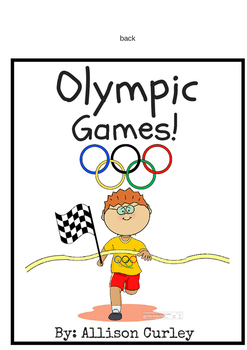 Olympic games interactive book!