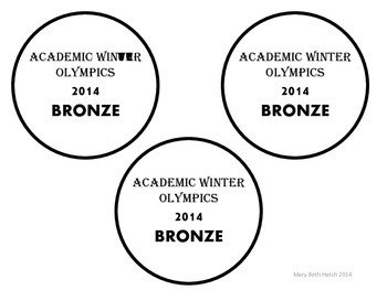Olympic medals- freebie