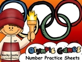 Olympics or Sports Number Practice Sheets 1-20