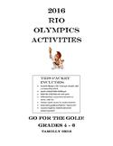 Olympics 2016 Activities Grades 4 - 6