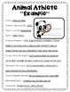 Animal Athletes: Sports Writing Activity: Perfect for the Winter Olympics 2018!