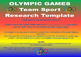 Olympic Team Sports Research Template