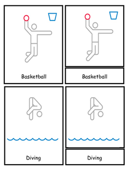 Olympics 3 Part Cards