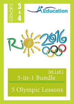Olympics 5-IN-1 BUNDLE (Set 1 of 1) - Grades 3&4