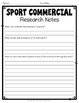 Olympics Activity: Create a Commercial for the Summer or Winter Olympics!