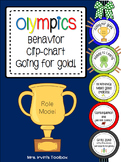 Olympics Behavior Chart Going for Gold!