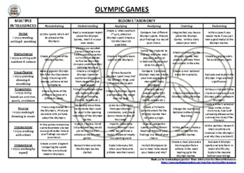 Olympics Blooms and Gardner Grid