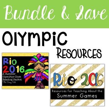 Olympics Bundle: Close Reading, Resources, Printables