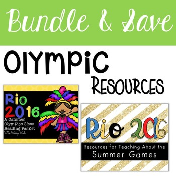 Olympics Bundle: Close Reading, Resources, Printables