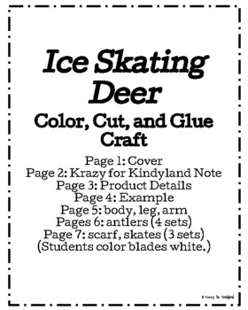 Olympics Craft: Ice Skating Deer