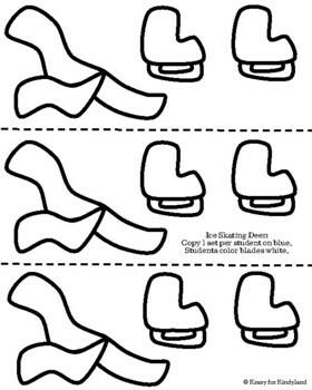 Ice Skating Deer Craft (Winter, Olympics)