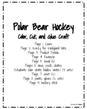 Winter Olympics Craft: Polar Bear Hockey