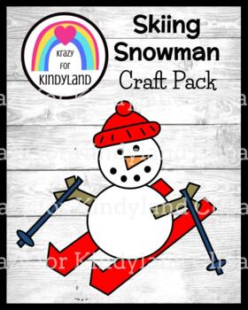 Winter Olympics Craft: Skiing Snowman