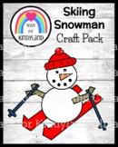 Skiing Snowman Craft (Winter, Olympics)
