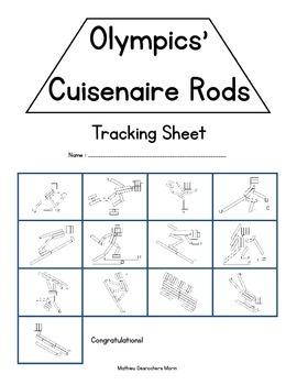 Olympics' Cuisenaire Rods (winter sports)