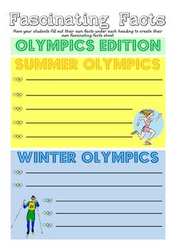 Olympics Fact Sheet