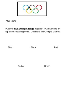 """""""Olympics Fun!"""" --  Crafts, Song, and Talking Points!"""