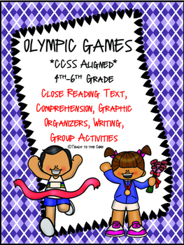 Olympics Gr. 4-6 NO PREP Close Reading Text, Comprehension & Activities