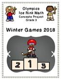 Olympics Hockey Ice Rink Math Project 3rd grade - Winter 2018