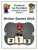 Olympics Hockey Ice Rink Math Project 3rd grade - Winter 2018