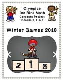 Olympics Hockey Ice Rink Math Project BUNDLE 3rd, 4th, & 5th - Winter 2018