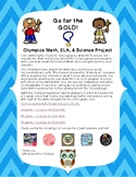 Olympics Math ELA Science project FREEBIE - Winter PyeongC