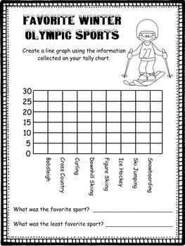 Olympics Math Packet 16 pages