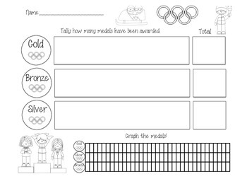 Olympics Math, Tally's and Graphs!